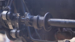 Old , Vintage Engine crank shaft #9 Stock Footage