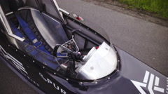 Top view of Dragster one seat vehicle 4K Stock Footage