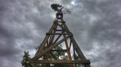 Looking Up At A Windmill Timelapse - stock footage