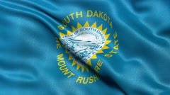 4K South Dakota state flag seamless loop Ultra-HD Stock Footage