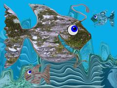 Reef With BrickAnd Timberfish Stock Illustration