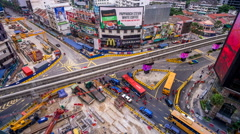 A view of 'Golden Triangle' development at Bukit Bintang during peak hour. Stock Footage