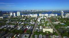Miami Beach neighborhood 3 Stock Footage
