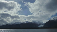 Cloudy Timelapse over the Davidson Glacier Alaska Stock Footage