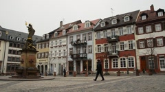 Main square old town Stock Footage
