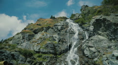 Capra Waterfall 1 Stock Footage