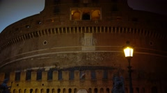ULTRA HD 4K real time shot,The Castel Sant'Angelo Bridge - stock footage