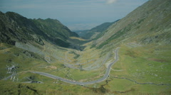 Transfagarasan road 2 Stock Footage