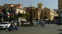 Amalfi Coast Sorrento, Italy Piazza Tasso at Roundabout Stock Footage
