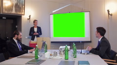 Woman making a business presentation Arkistovideo