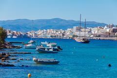 Agios Nikolaos City, Crete, Greece - stock photo