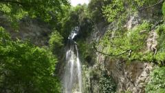 Beautiful waterfall. Valle delle Ferriere, Amalfi, Italy. Stock Footage