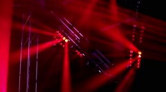 Rock concert and disco party stage colorful lights - stock footage