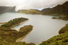 Lake of Fire in Sao Miguel Island - Azores - stock photo