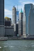 New York Skyline  from the East River - stock photo