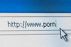 Internet porn concept - stock photo