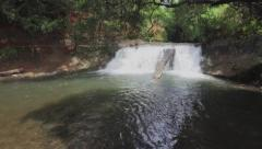 Waterfall in Panama - stock footage