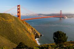 Golden Gate View from Marin Headlands Stock Photos
