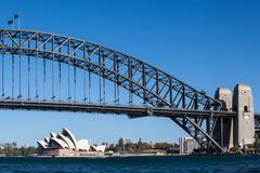 Sydney Harbour Bridge on a Clear Day Stock Photos