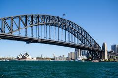 Sydney Harbour Bridge on a Clear Day - stock photo
