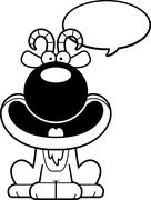 Stock Illustration of Talking Cartoon Goat