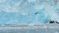 Aialik Glacier Ice Flow Pacific Ocean Alaska Coast Stock Footage