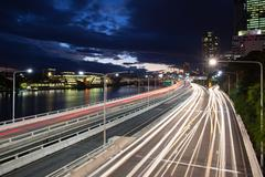 Brisbane Rush Hour Traffic Stock Photos