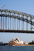 Sydney Harbour At Dusk Stock Photos