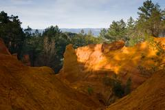 Le Sentier Des Ocres in Roussillon Stock Photos