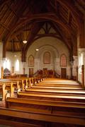 Interior of Ross Uniting Church - stock photo