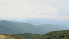 A view of the mountain range from the peak of Max Patch Mountain. Stock Footage