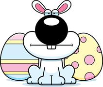Stock Illustration of Cartoon Easter Bunny Bored