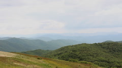 View of the mountains from the peak of Max Patch Mountain. Stock Footage