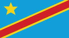 Stock Illustration of the democratic republic of the congo Flag for Independence Day and infographi