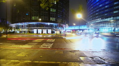 4K Time lapse of night time city traffic in London Stock Footage