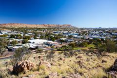 View over Alice Springs - stock photo