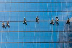 High Rise Window Washers - stock photo