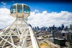 Melbourne skyline from Melbourne Star - stock photo