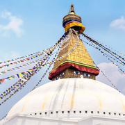 Boudhanath Stupa in the Kathmandu, Nepal Stock Photos