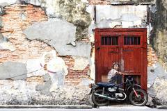 Famous Street Art Mural in Georgetown, Penang, Malaysia Kuvituskuvat