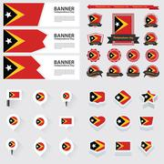 east timor independence day, infographic, and label Set. - stock illustration