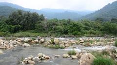 Taha Waterfalls at Ban Khiri Wong in Nakhon Si Thammarat, Thailand - stock footage