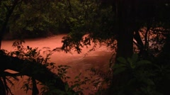 River flow through rainforest shortly before dark 2 Stock Footage