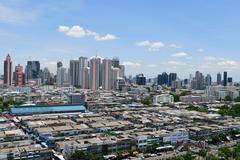 Daytime and transportation in Bangkok city Thailand - stock photo