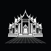 Temple silhouette Stock Illustration