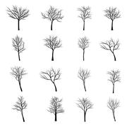 Stock Illustration of Trees with dead branch