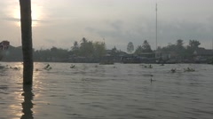 Mekong Delta River in Vietnam. Early Morning. Cinema flat picture profile, no co - stock footage