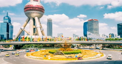 Shanghai time lapse of lujiazui Stock Footage