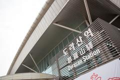 Dorasan Railway Station in South Korea - stock photo