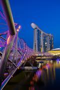 Marina Bay Sands Complex at Night Stock Photos